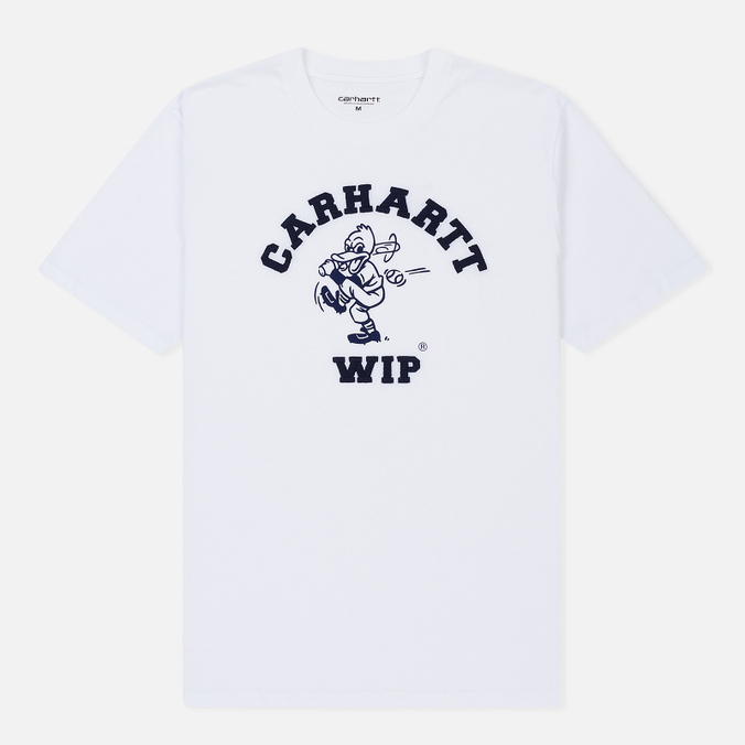 Мужская футболка Carhartt WIP S/S Duck Batter White/Dark Navy