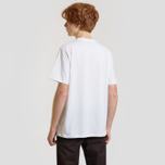 Мужская футболка Carhartt WIP S/S Duck Batter White/Dark Navy фото- 2