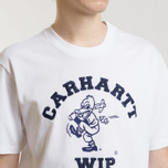 Мужская футболка Carhartt WIP S/S Duck Batter White/Dark Navy фото- 3