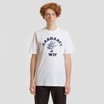 Мужская футболка Carhartt WIP S/S Duck Batter White/Dark Navy фото- 1