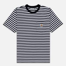 Мужская футболка Carhartt WIP S/S Haldon Stripe Black/White фото- 0