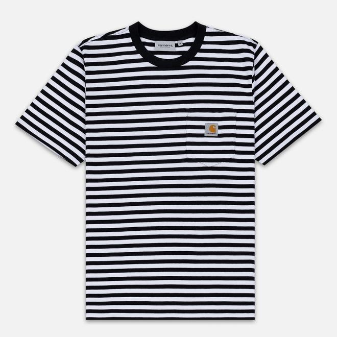 Мужская футболка Carhartt WIP S/S Haldon Stripe Black/White