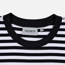 Мужская футболка Carhartt WIP S/S Haldon Stripe Black/White фото- 1