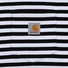 Мужская футболка Carhartt WIP S/S Haldon Stripe Black/White фото- 2