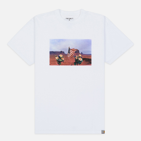 Мужская футболка Carhartt WIP S/S Matt Martin Flags White