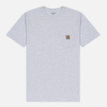Мужская футболка Carhartt WIP S/S Pocket Ash Heather фото- 0