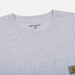 Мужская футболка Carhartt WIP S/S Pocket Ash Heather фото- 1