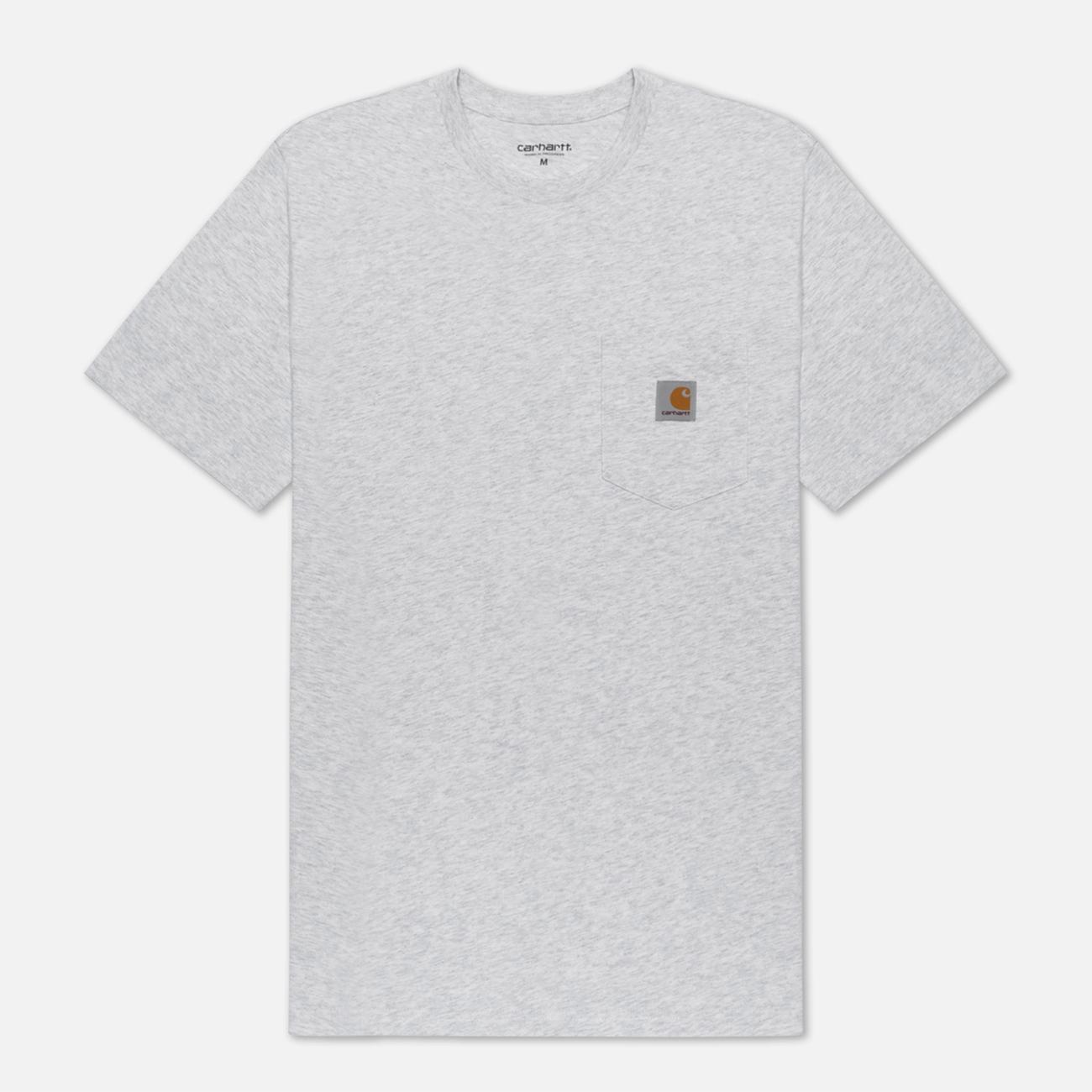 Мужская футболка Carhartt WIP S/S Pocket Ash Heather