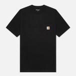 Мужская футболка Carhartt WIP S/S Pocket Black фото- 1