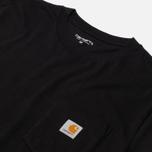 Мужская футболка Carhartt WIP S/S Pocket Black фото- 2
