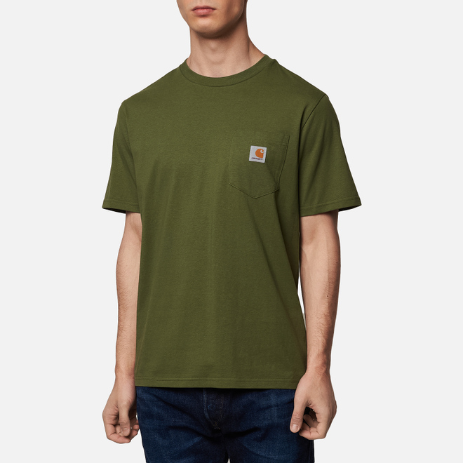 Мужская футболка Carhartt WIP S/S Pocket Dollar Green