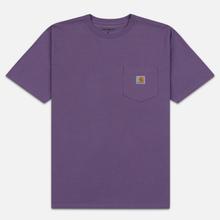 Мужская футболка Carhartt WIP S/S Pocket Dusty Mauve фото- 0