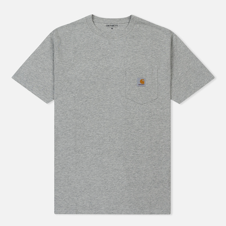 Мужская футболка Carhartt WIP S/S Pocket Grey Heather