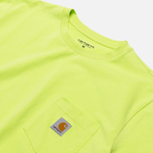 Мужская футболка Carhartt WIP S/S Pocket Lime фото- 1