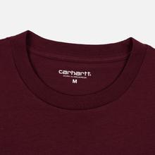 Мужская футболка Carhartt WIP S/S Pocket Merlot фото- 1