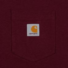 Мужская футболка Carhartt WIP S/S Pocket Merlot фото- 2