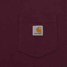 Мужская футболка Carhartt WIP S/S Pocket Shiraz фото- 2