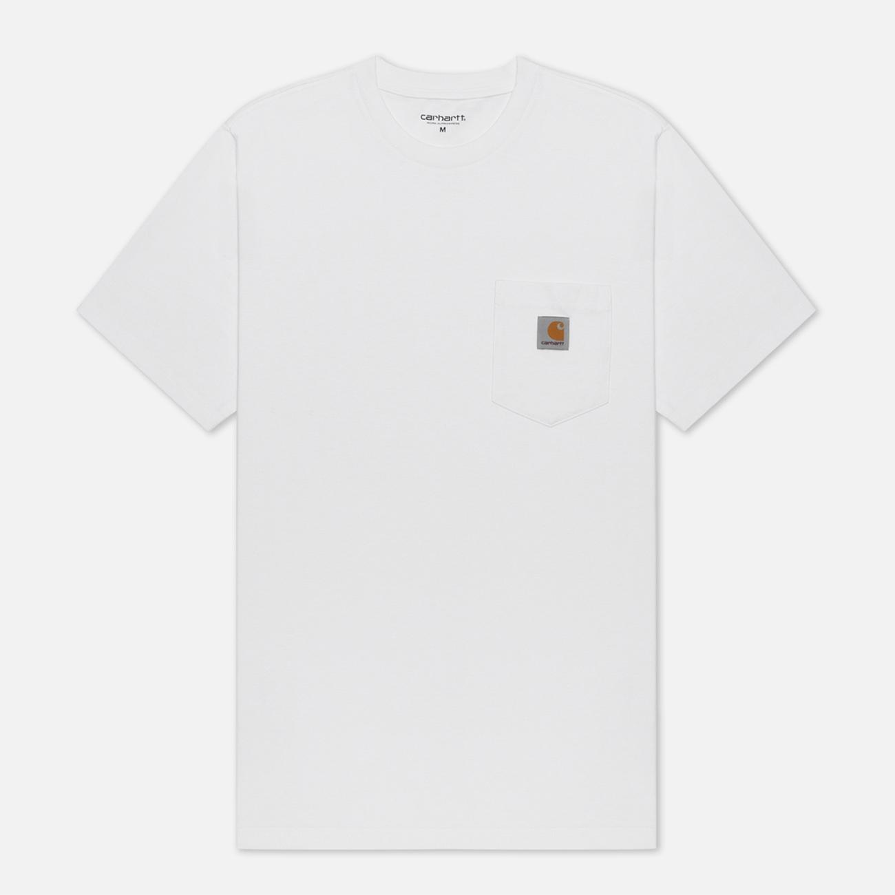 Мужская футболка Carhartt WIP S/S Pocket White