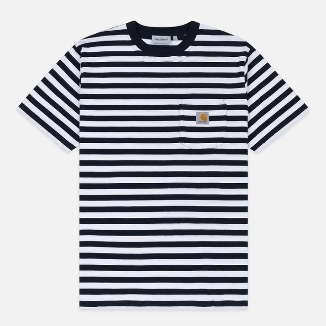 Мужская футболка Carhartt WIP S/S Scotty Pocket Stripe Dark Navy/White