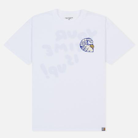 Мужская футболка Carhartt WIP S/S Time Is Up White