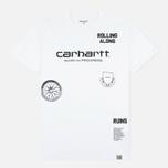 Мужская футболка Carhartt WIP SS Carrie Ruins White/Black фото- 0