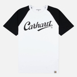 Мужская футболка Carhartt WIP SS League White/Black фото- 0