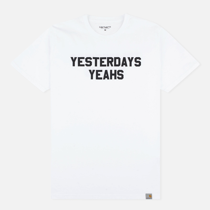 Мужская футболка Carhartt WIP SS Yesterdays White/Black