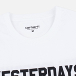 Мужская футболка Carhartt WIP SS Yesterdays White/Black фото- 2