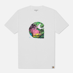 Мужская футболка Carhartt WIP Sunset C White