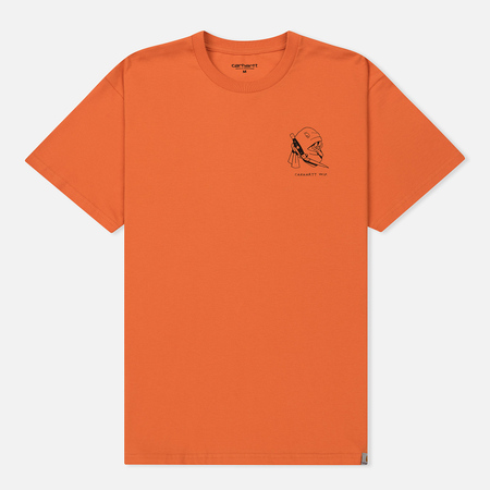 Мужская футболка Carhartt WIP Trust No One Jaffa/Black Dark Retro Washed