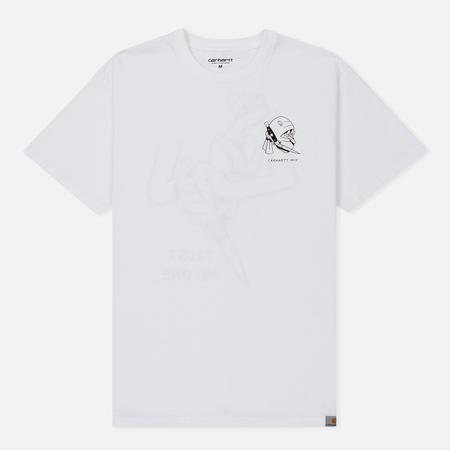 Мужская футболка Carhartt WIP Trust No One White/Black Dark Retro Washed