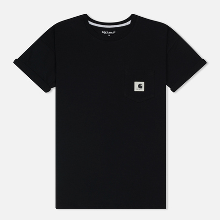 Женская футболка Carhartt WIP W' Carrie Pocket Black/Ash Heather
