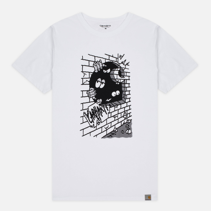 Мужская футболка Carhartt WIP Wall C White/Black