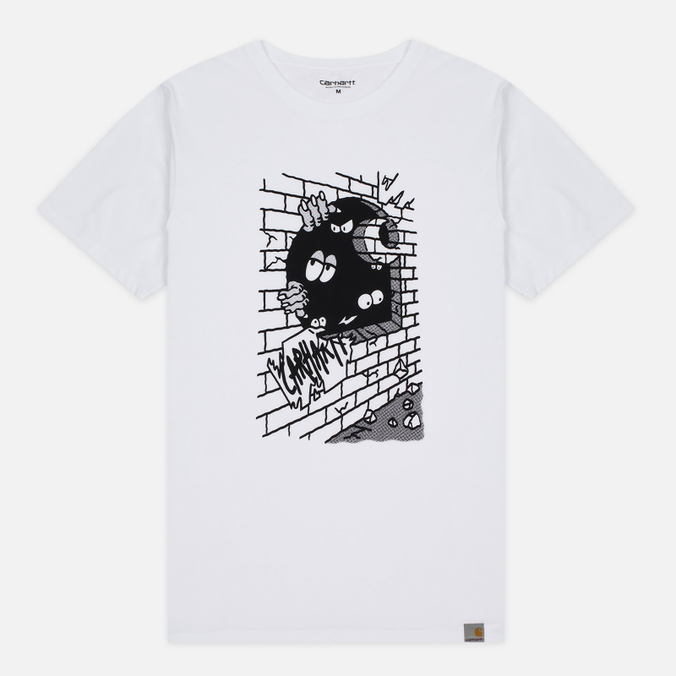 Carhartt WIP Wall C Men's T-shirt White/Black