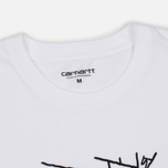 Мужская футболка Carhartt WIP Wall C White/Black фото- 2