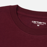 Carhartt WIP Wip Script Men's T-shirt Chianti/White photo- 1