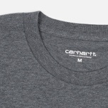 Carhartt WIP Wip Script Men's T-shirt Dark Grey Heather/White photo- 1