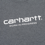 Мужская футболка Carhartt WIP Wip Script Dark Grey Heather/White фото- 3