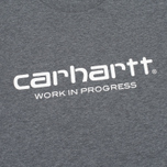 Carhartt WIP Wip Script Men's T-shirt Dark Grey Heather/White photo- 3