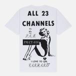 Мужская футболка Carhartt WIP x P.A.M. Radio Club All Channels White фото- 3