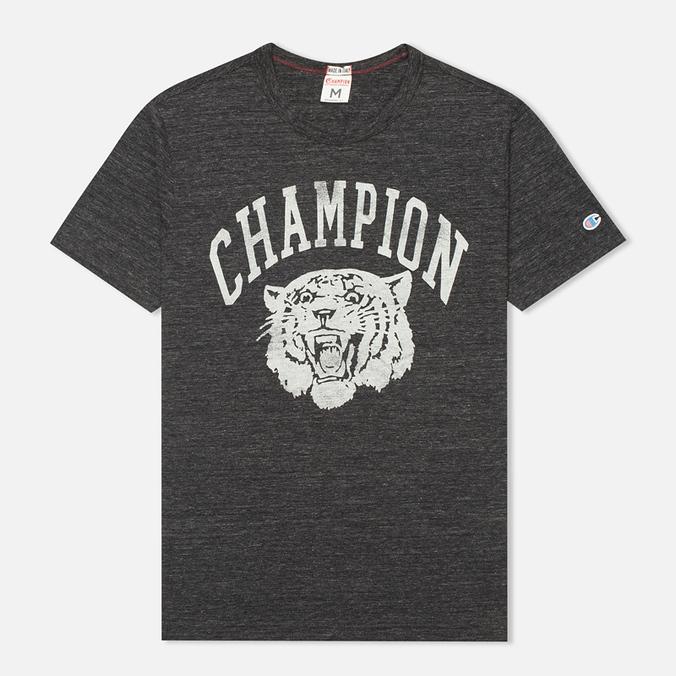 Champion Reverse Weave Ivy League Men's T-shirt Grey Melange