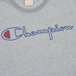 Champion Reverse Weave 2 Tone Ringer Men's T-Shirt Marl Grey photo- 3