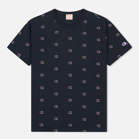 Мужская футболка Champion Reverse Weave All Over Print Crew Neck Navy