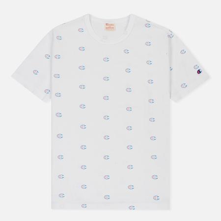 Мужская футболка Champion Reverse Weave All Over Print Crew Neck White