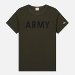 Champion Reverse Weave Army Men's T-Shirt Olive photo- 0