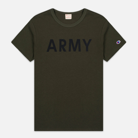 Champion Reverse Weave Army Men's T-Shirt Olive