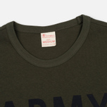 Champion Reverse Weave Army Men's T-Shirt Olive photo- 2