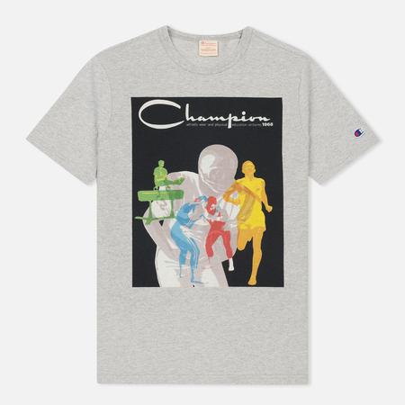 Мужская футболка Champion Reverse Weave Ath Wear & Education Printed Grey