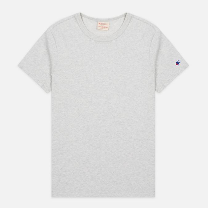Мужская футболка Champion Reverse Weave Basic Crew Light Grey
