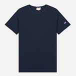 Мужская футболка Champion Reverse Weave Basic Crew Navy фото- 0